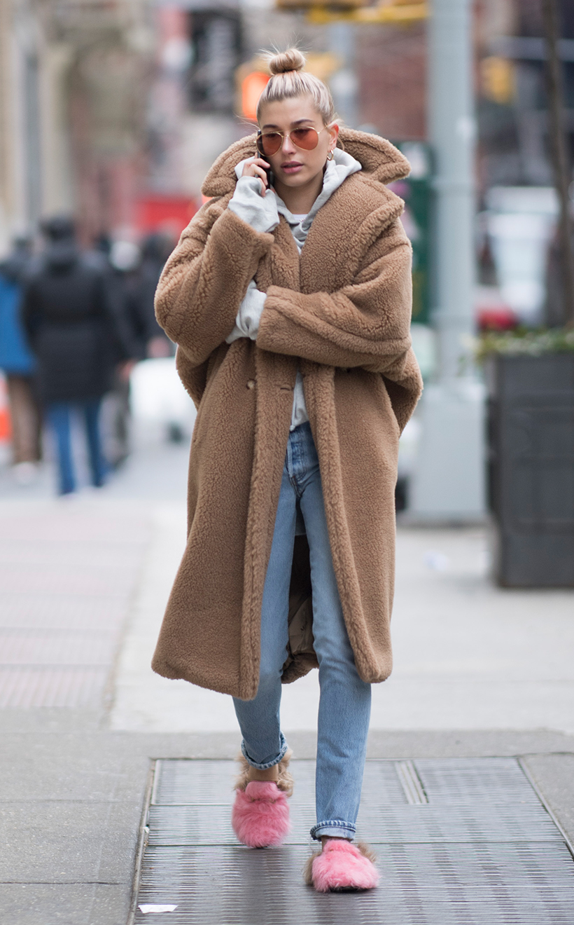 Hailey Bieber Celebrities Winter Coats Outfit Ideas