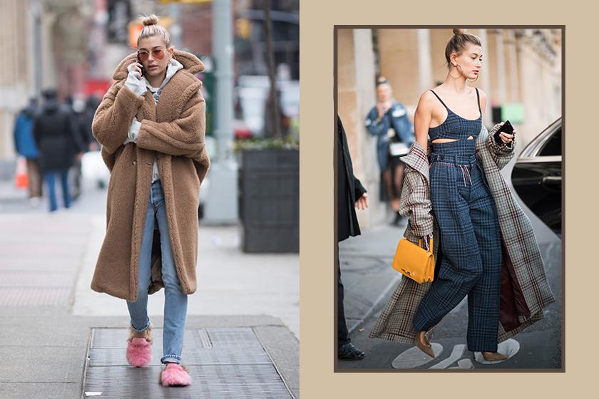 Hailey Bieber Celebrities Winter Coats Outfit Ideas