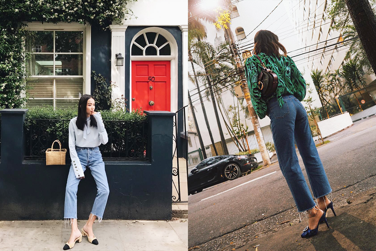 2019 Denim Jeans Trend stylish Baggy Jeans dad jeans skinny jeans Charcoal Washes Longline Straight Fits Cuffing Trend reports street style Yo Yo Cao Aimee Song