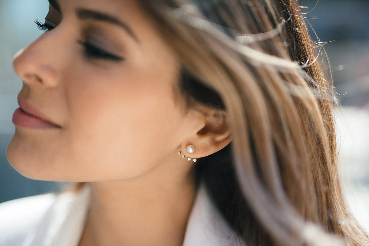 pearl earring necklace trends in instagram