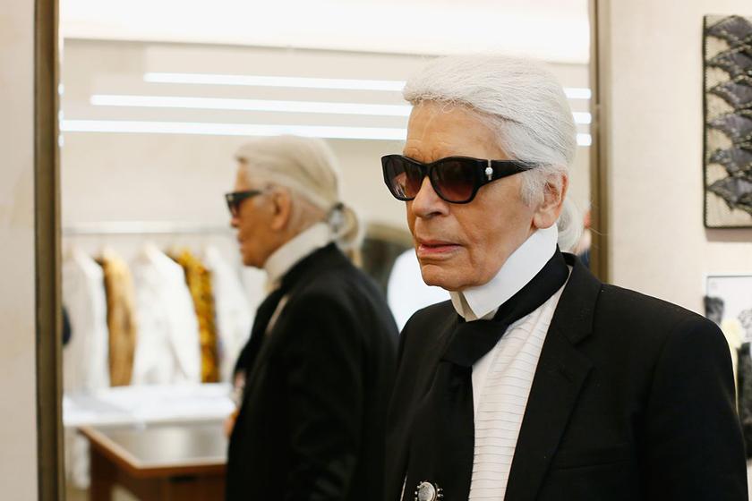 Karl Lagerfeld missing teeth