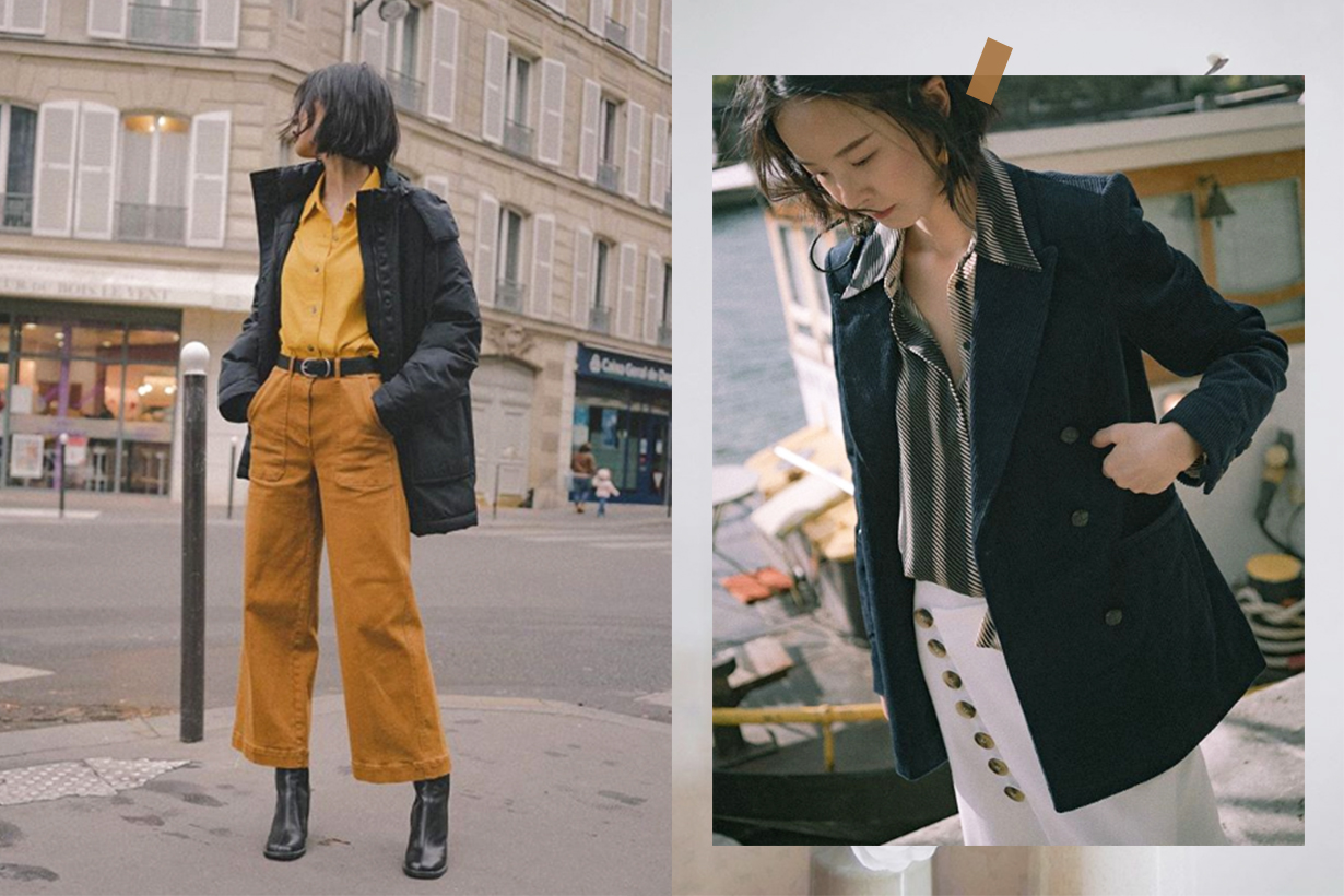 Uniqlo French Style Blogger Meng Mao