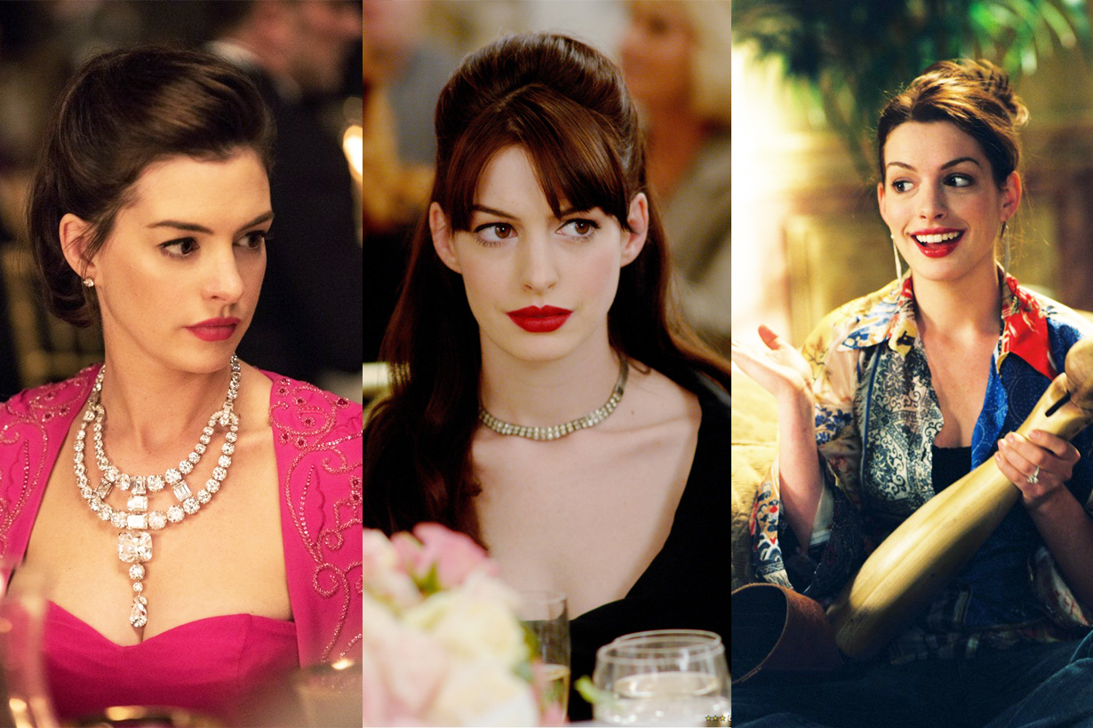 Anne Hathaway Red Lipsticks Colour GIORGIO ARMANI  rouge d' armani sheers ROUGE D' ARMANI 400 celebrities makeup cosmetics ocean's 8 the devil wears prada princess diaries catwoman