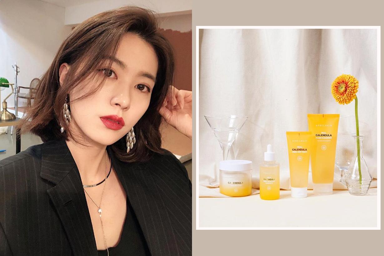 Aprilskin CALENDULA PEELING PAD Peel Off Mask DEEP MOISTURE ESSENCE Instagram Hit Korean Skincare K Beauty