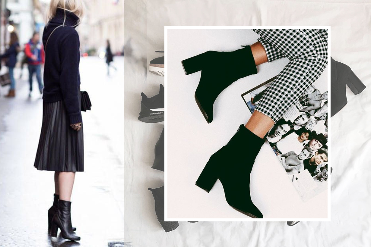 Black Ankle Boots trend