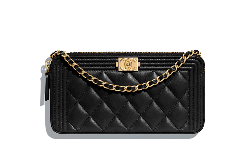 chanel handbags boy chanel  wallet on chain clutch with chain