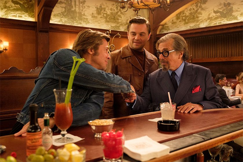 brad pitt leonardo dicaprio once upon a time in hollywood first look