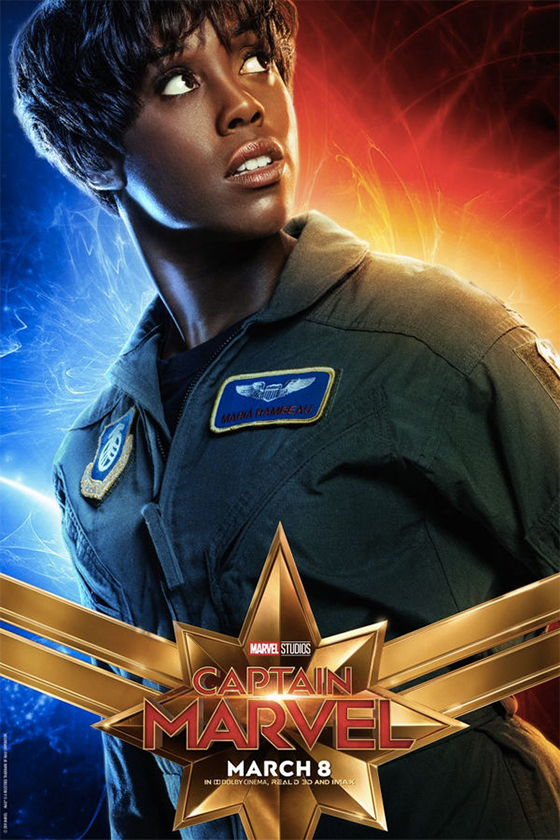 captain marvel character posters Doctor Minerva Gemma Chan Cat Goose