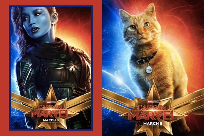 《Captain Marvel》海報亮點:除了《瘋狂亞洲富豪》的她,就連這隻小橘貓也有份?
