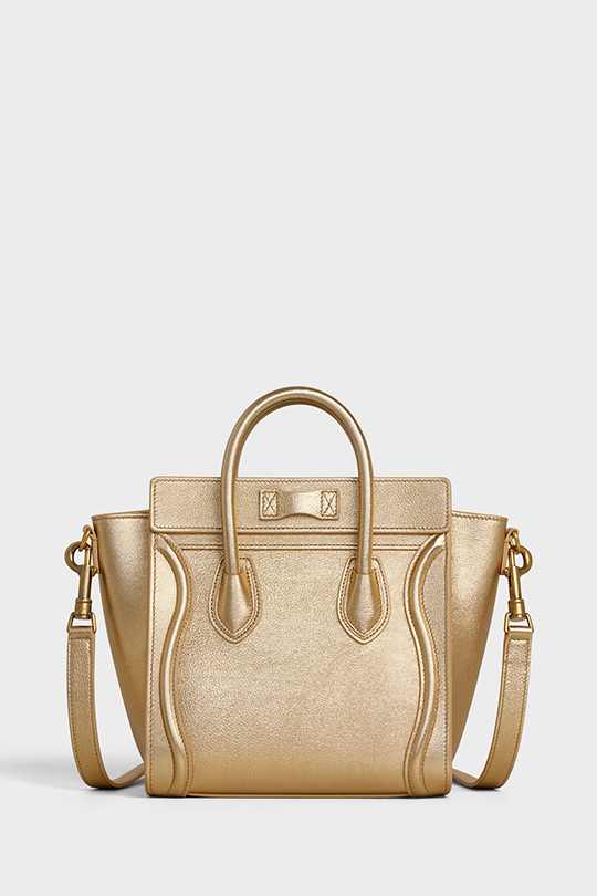 celine- Phoebe Philo IT Bag nano-luggage gold