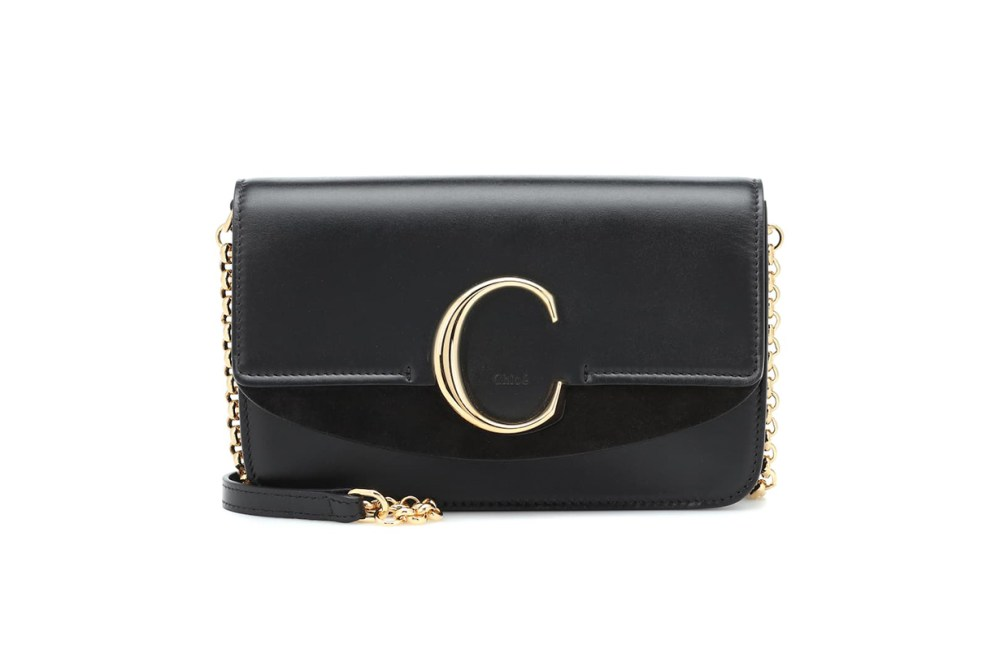 Chloé C leather shoulder bag