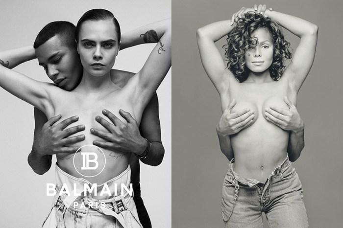 Cara 與 Balmain 設計師「全裸」上半身,為的只是向她致敬!