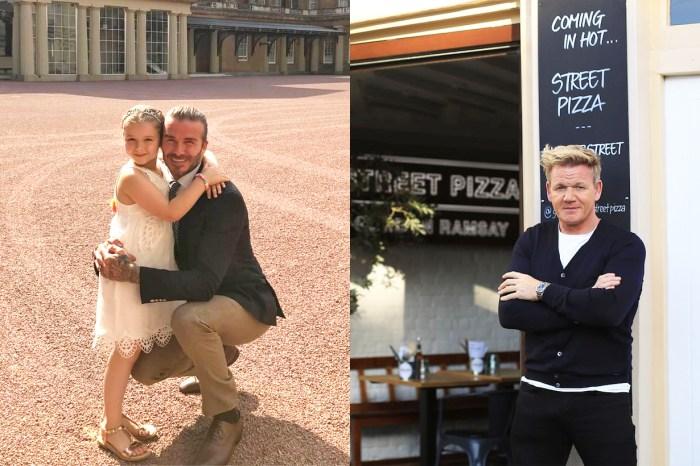 碧咸竟然因為女兒 Harper,公開叫「廚神」Gordon Ramsay 小心點?
