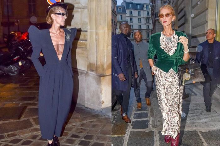 謬思女神 Celine Dion 以「超深 V 」連身褲現身時裝週,展現迷人硬派性感!