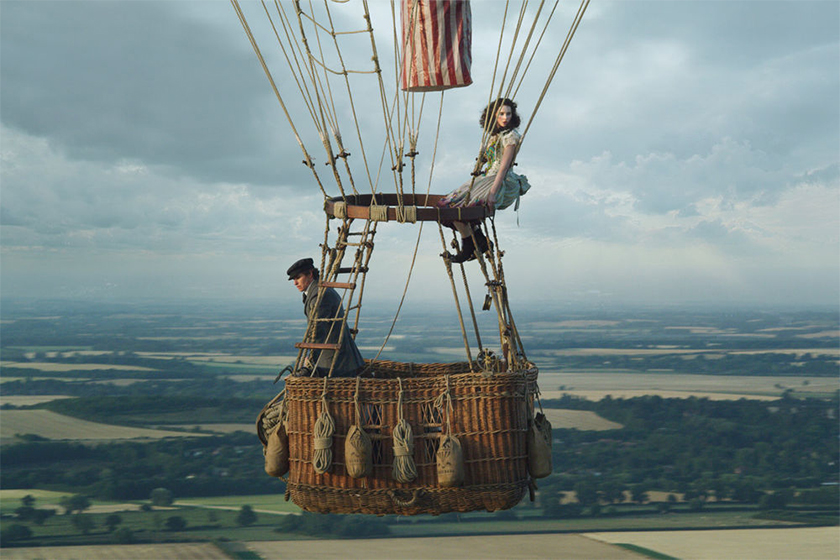 eddie redmayne felicity jones the aeronauts look