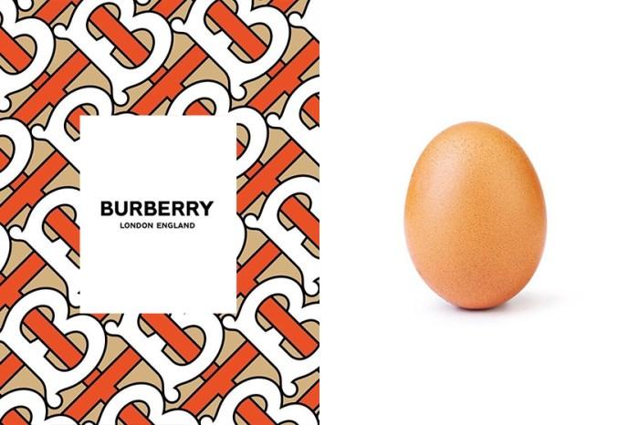 致敬最多讚的蛋?竟連 Burberry 也來跟風,趁機以蛋梗炒作話題!