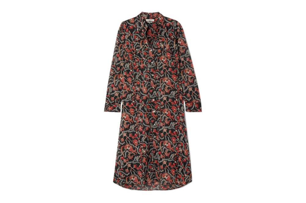 Isabel Marant Eliane Printed Cotton-voile Dress