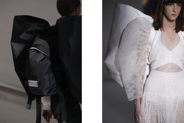 Givenchy SS19 haute couture back pack