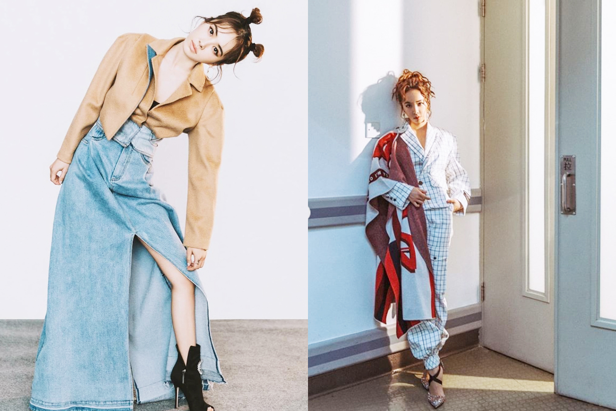 Jolin Cai Jolin Tsai Jeans Denim Style Fendi Puffer Down Jacket Louis Vuitton Handbag Airport fashion celebrities style Taiwan singer ugly beauty