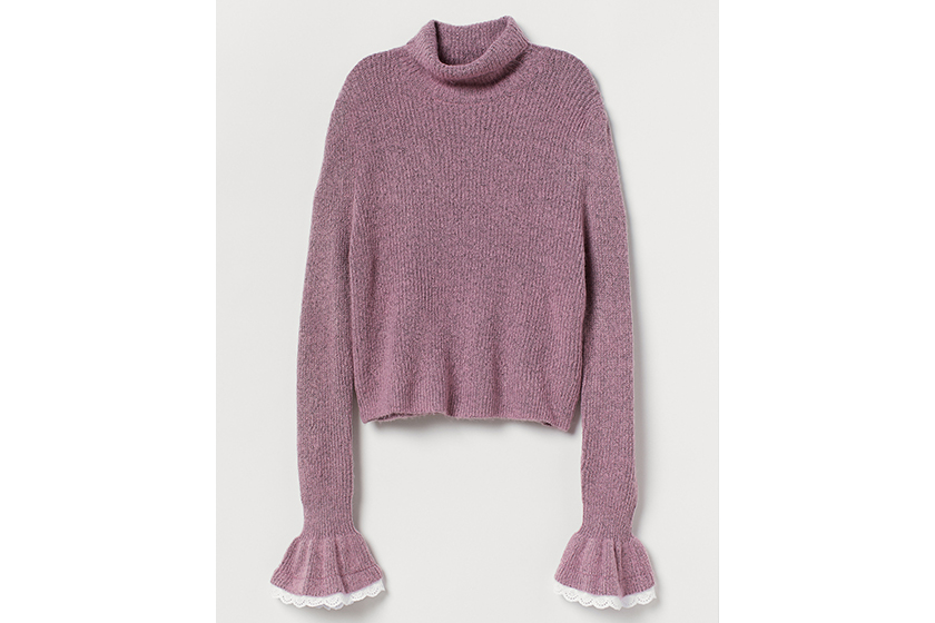 H&M Jumper With Frilled Cuffs