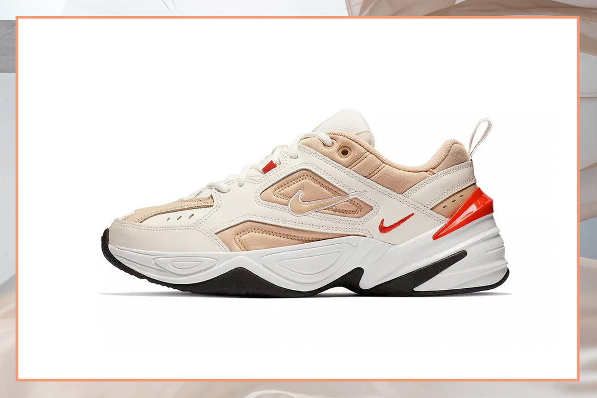 nike m2k tekno new colow sand red