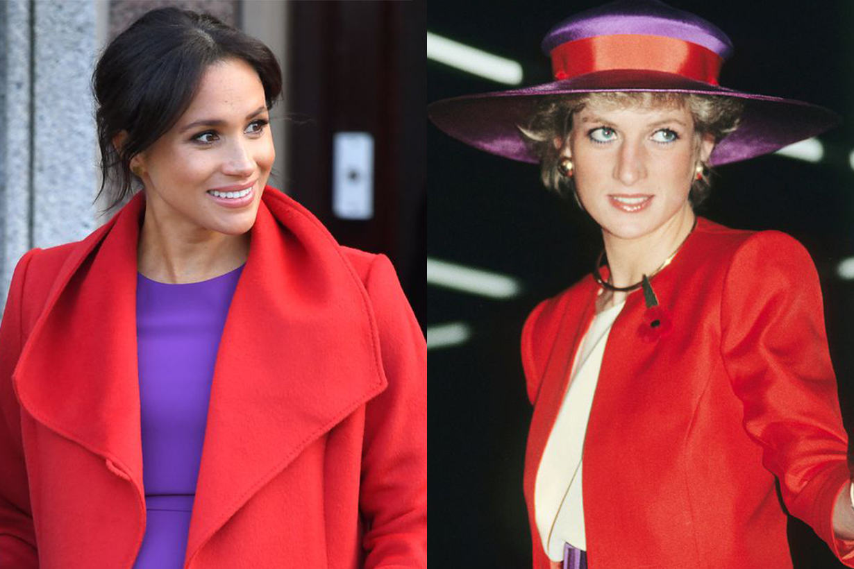 Meghan Markle's Bright Purple and Red Look Had a Sweet Connection to Princess Diana