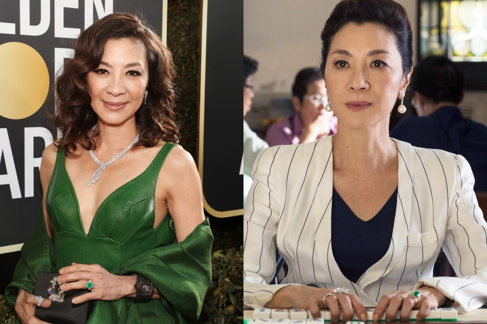 Michelle Yang Tan Sri Dato' Seri Michelle Yeoh Choo-Kheng Crazy Rich Asians Golden Globes Awards 2019 DE BEERS Ring malaysian hollywood actress