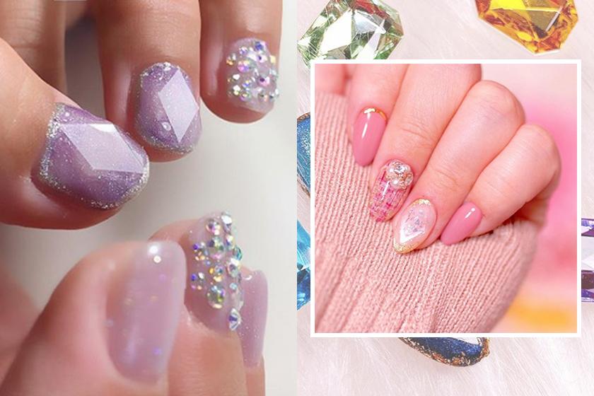 nail trends gem nails instagram