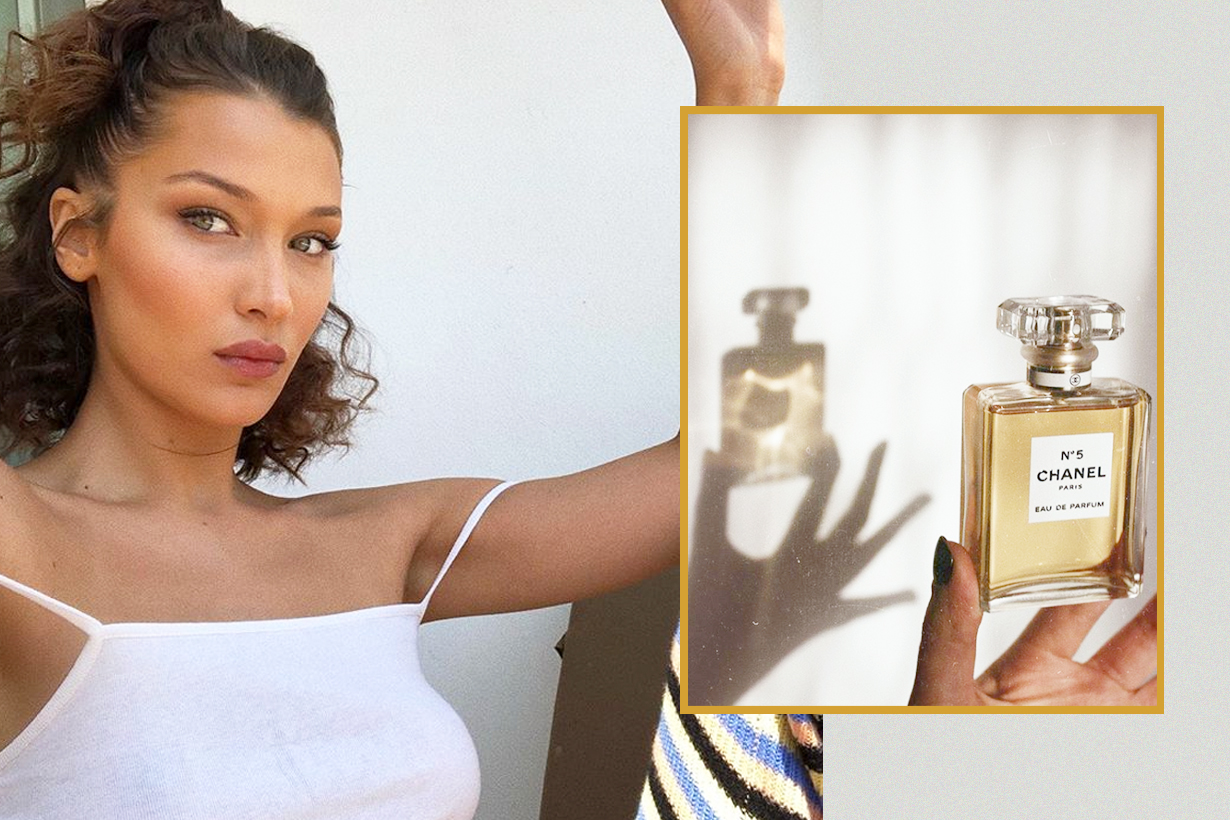 Perfume spraying spots ear back wrists Overhead sexy long lasting smell good bella hadid
