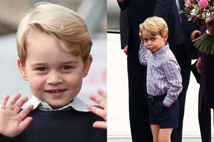 喬治小王子向陌生婦人自揭秘密綽號,網民:「摸不著頭腦!」