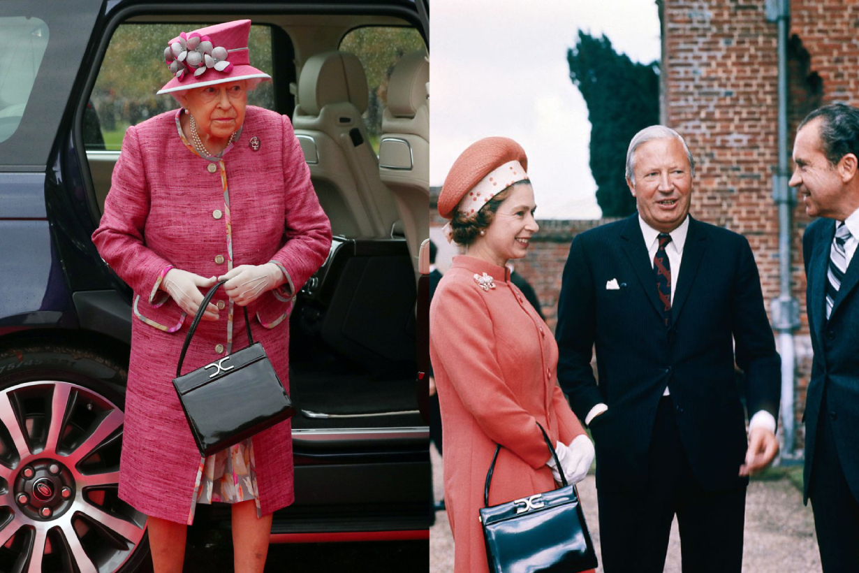Queen Elizabeth II Handbag brand Launer Sam Launer Rayne favourite brand British Royal Family Handbag signals