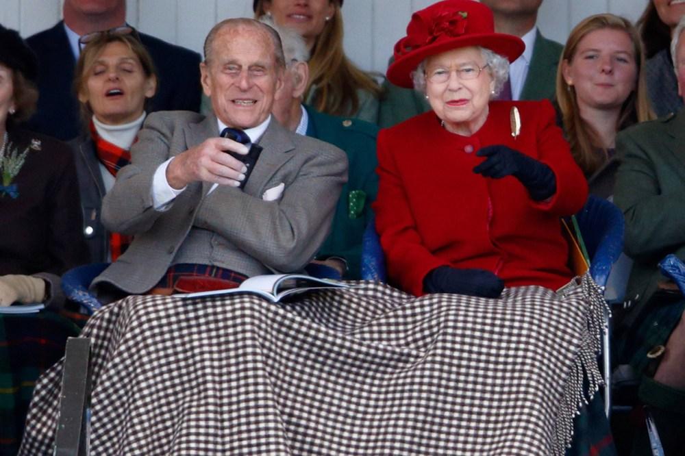 Queen Elizabeth II Prince Philip West BBC Show Quiz Newton Village Hall Women's Institute Sandringham Estate Checked Blanket British Royal Family
