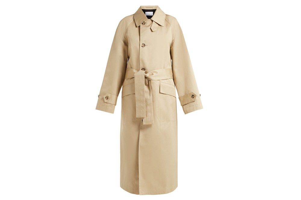 Raey Split-Back Cotton Trench Coat