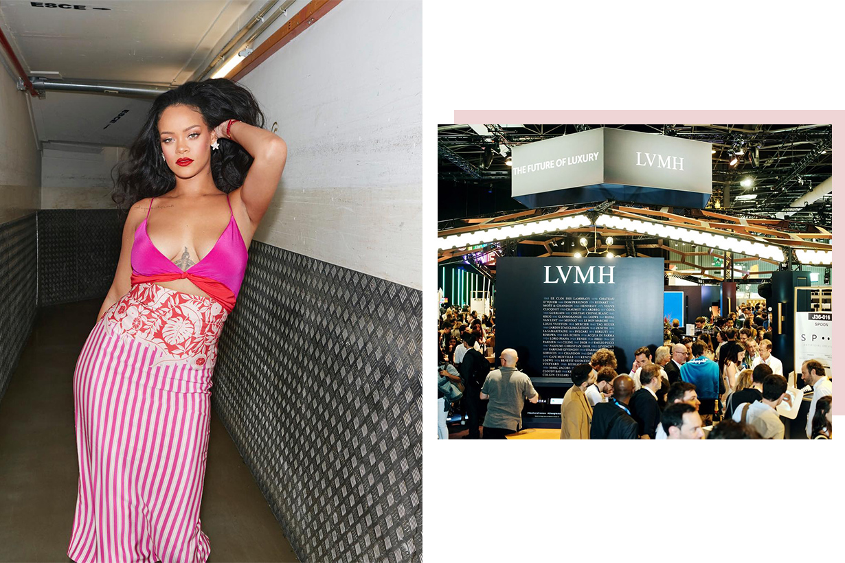 rihannas with LVMH credit luxury fashion line