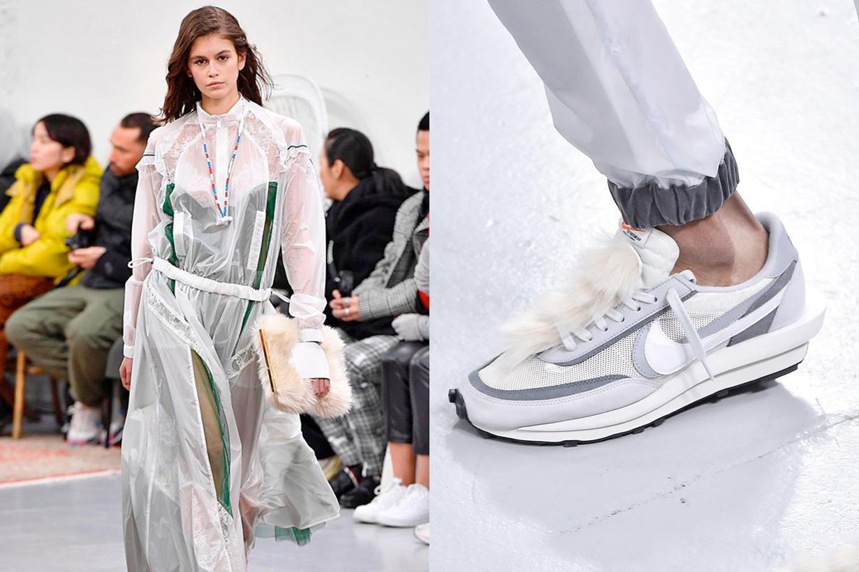 sacai nike hybrids crossover sneaker fashion show