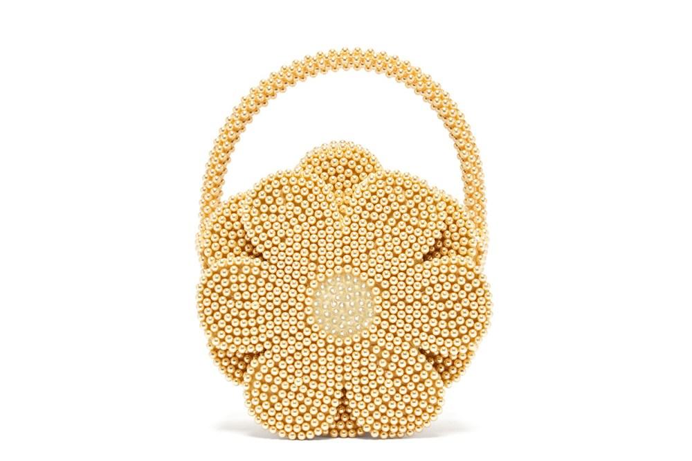 Shrimps Buttercup Faux-Pearl Embellished Bag