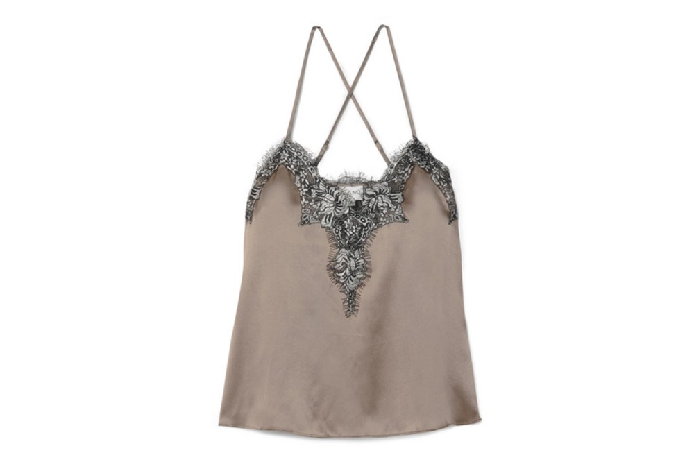 Cami NYCThe Gisele Metallic Lace-trimmed Silk-charmeuse Camisole