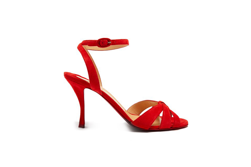 Christian Louboutin Trezum 95 Suede Sandals