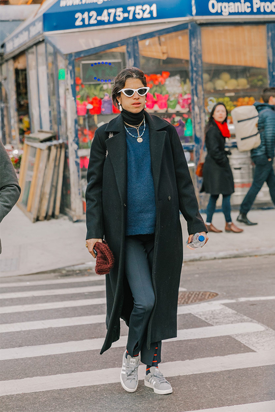 turtle neck sweater coat street style  song hye kyo style