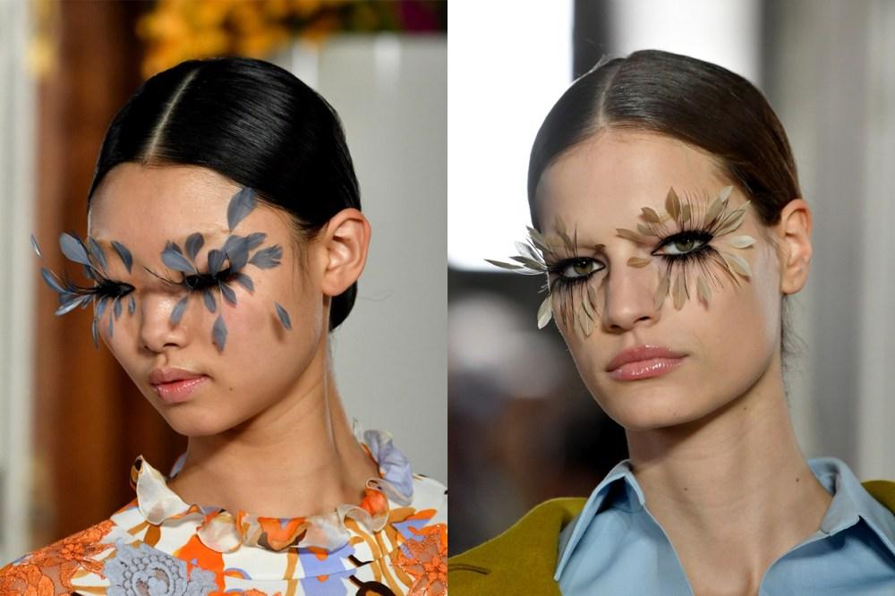 Model Backstage Floral Eyelashes
