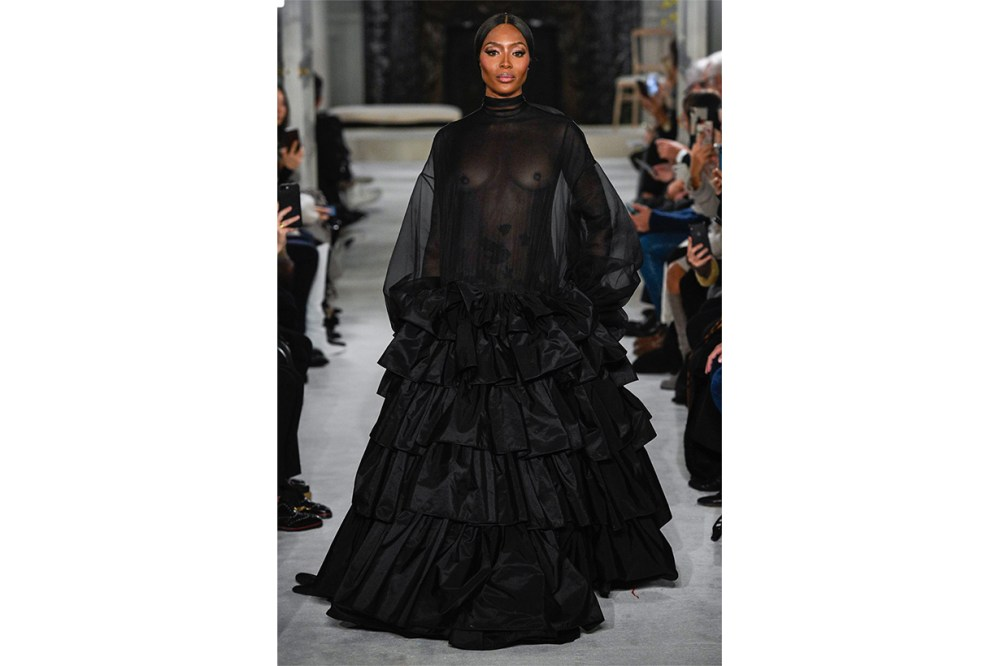Naomi Cambell Valentino SS19 Couture Runway