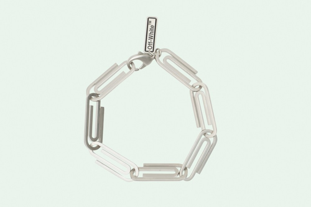 Raf Simons soda can pull tab ring and Virgil Abloh virgil abloh paper clip necklace