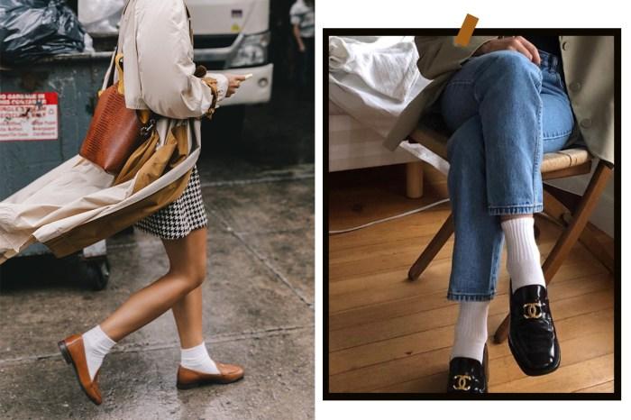 老套就是時尚:翻出學生時代的白襪,跟著 It Girls 這樣配搭!