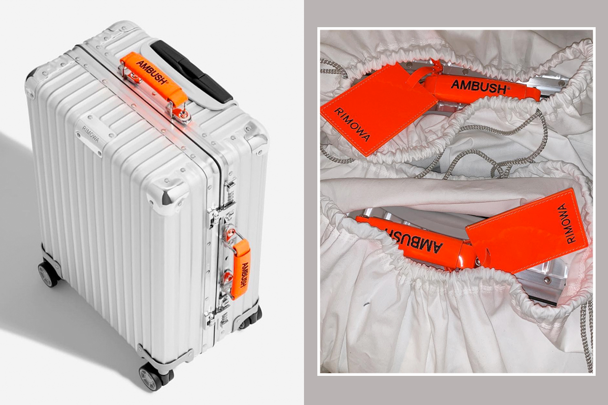 rimowa ambush suitcase luggage classic