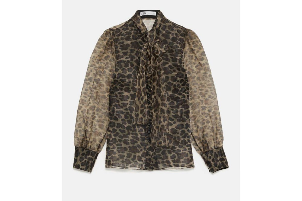 Zara Animal Print Blouse