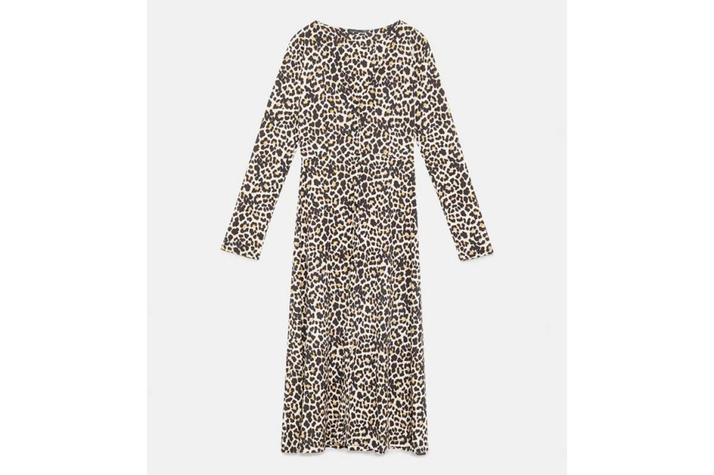Zara Animal Print Dress