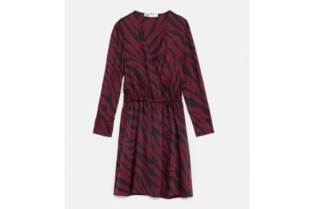 Zara Animal Print Wrap Dress