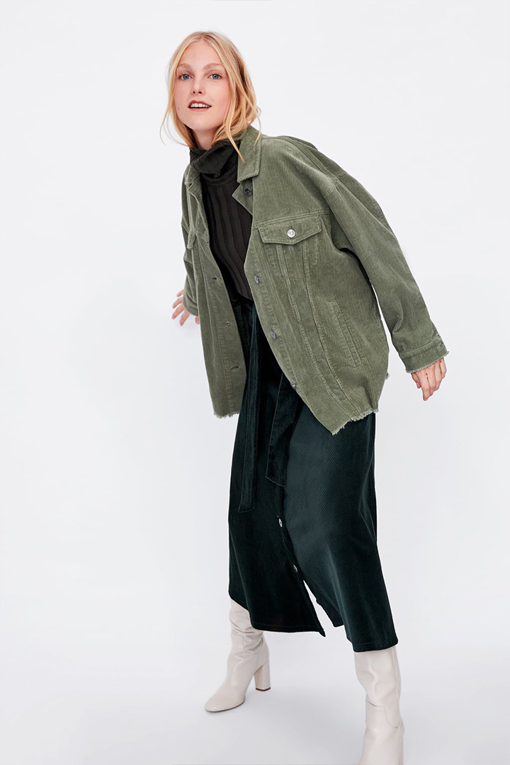 Zara Corduroy Jacket is back in 3 new colours