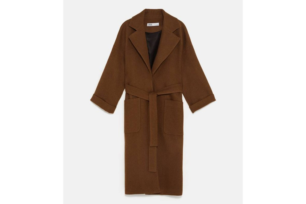 Zara Double Breast Belted Coat