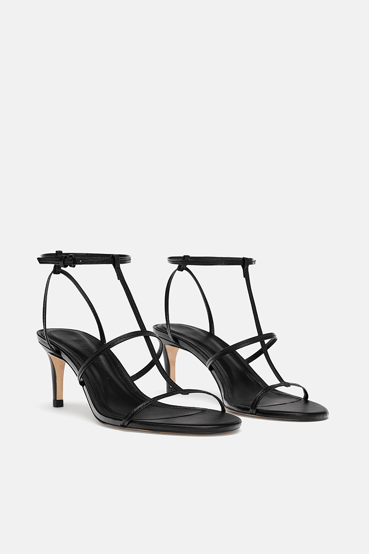 zara leather-strappy-high-heel-sandals